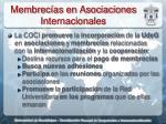 membrec as en asociaciones internacionales