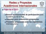 redes y proyectos acad micos internacionales