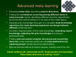 advanced meta learning