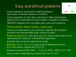 easy and difficult problems