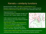 kernels similarity functions