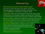 meta learning