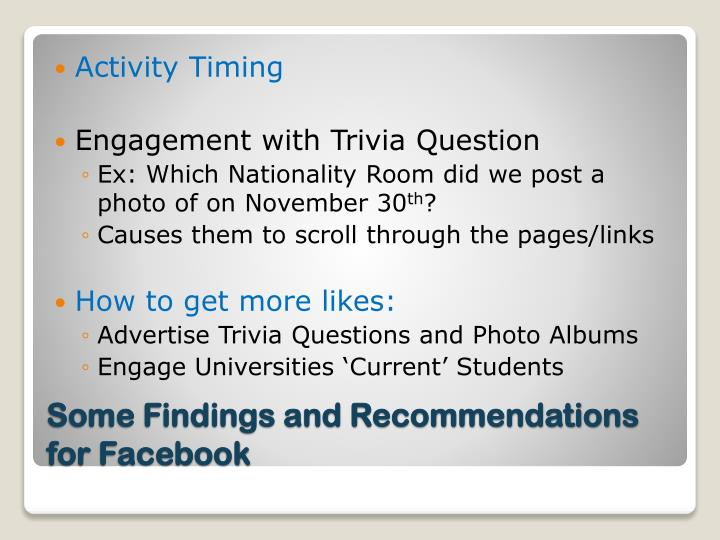 Activity Timing