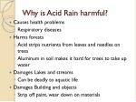 why is acid rain harmful
