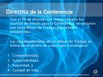 directriz de la conferencia