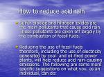 how to reduce acid rain