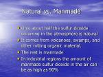 natural vs manmade