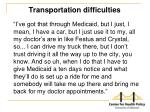 transportation difficulties1