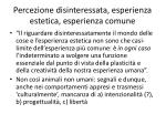 percezione disinteressata esperienza estetica esperienza comune