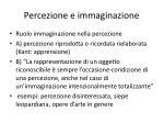 percezione e immaginazione