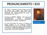 pronunciamento 1820