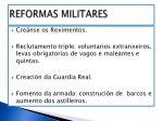 reformas militares