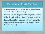 estuaries of north carolina1
