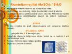 aluminijum sulfat al 2 so 4 3 18h 2 o