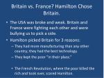 britain vs france hamilton chose britain