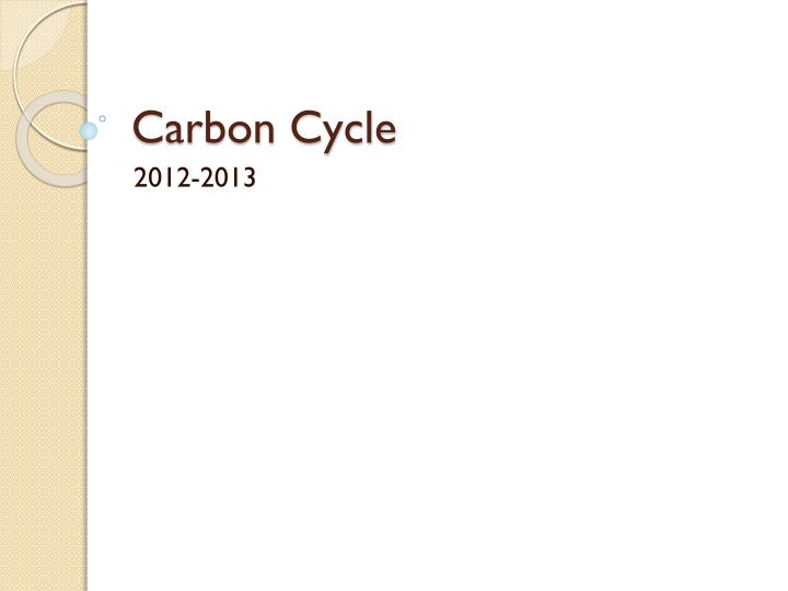 carbon cycle n.