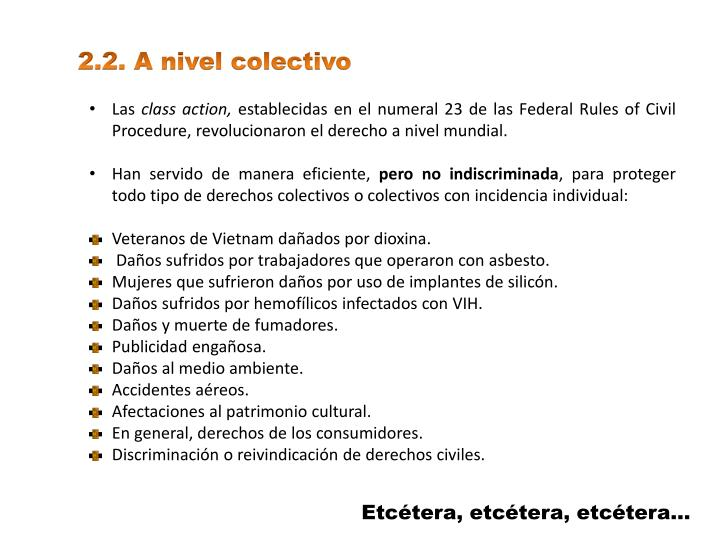 2.2. A nivel colectivo