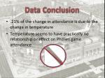 data conclusion