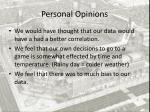 personal opinions