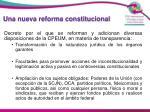 una nueva reforma constitucional