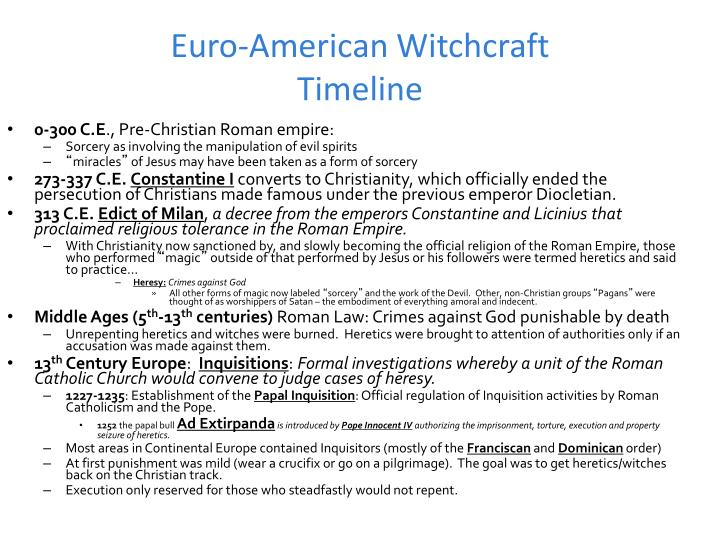 Euro-American Witchcraft