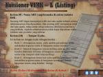 kuesioner vimk l listing7