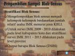 pengambilan sampel blok sensus