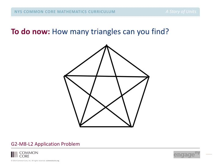 to do now how many triangles can you find n.