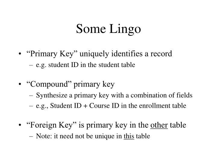 Some Lingo