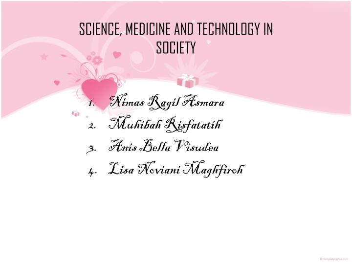 science medicine and technology in society n.
