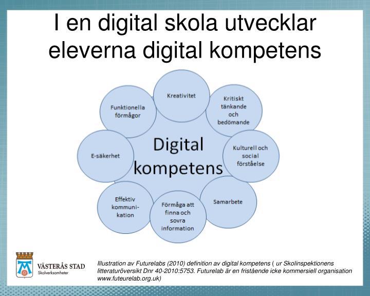 I en digital skola utvecklar eleverna digital kompetens