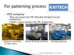 for patterning process laytech inc