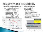 resistivity and it s stability