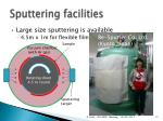 sputtering facilities