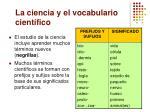 la ciencia y el vocabulario cient fico1