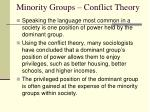 minority groups conflict theory