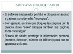 software bloqueador