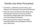 transfer jasa antar perusahaan