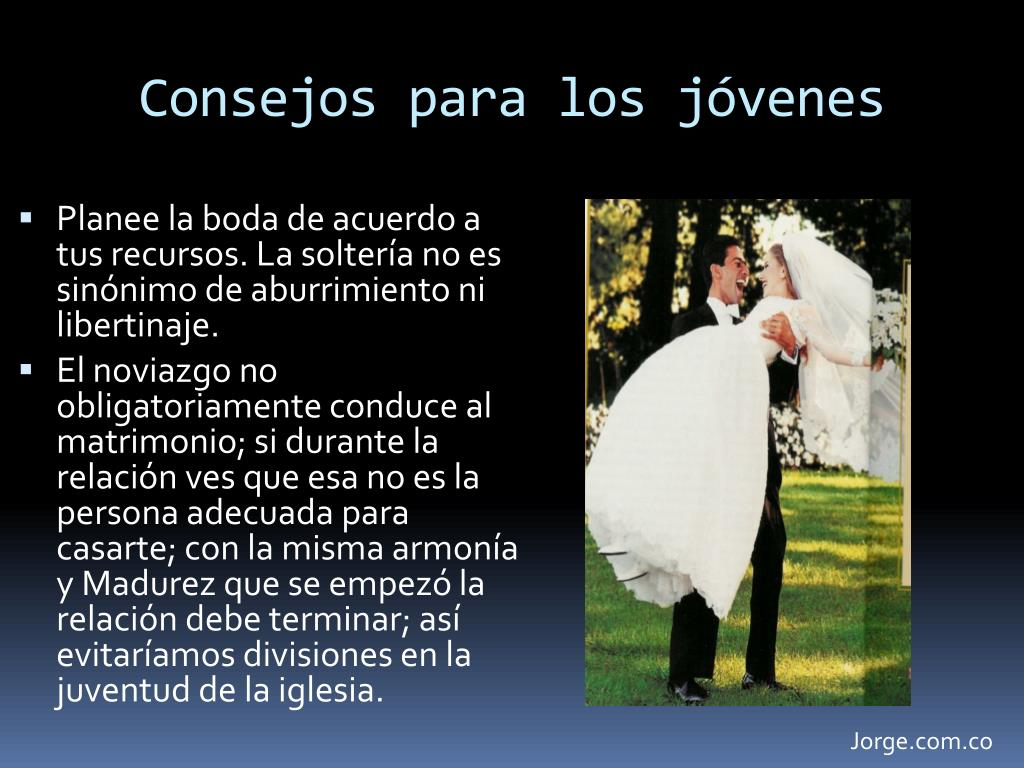 Consejos para parejas jóvenes