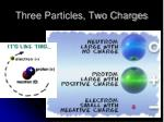 three particles two charges