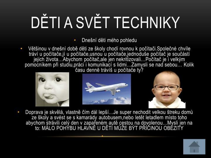 Děti a svět techniky