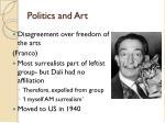 politics and art
