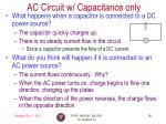 ac circuit w capacitance only