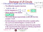 discharge of lr circuits