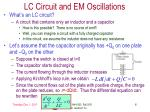 lc circuit and em oscillations
