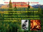 how has science helped us to know these resources