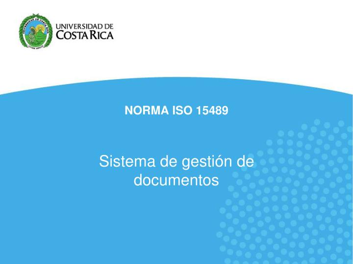 norma iso 15489 n.
