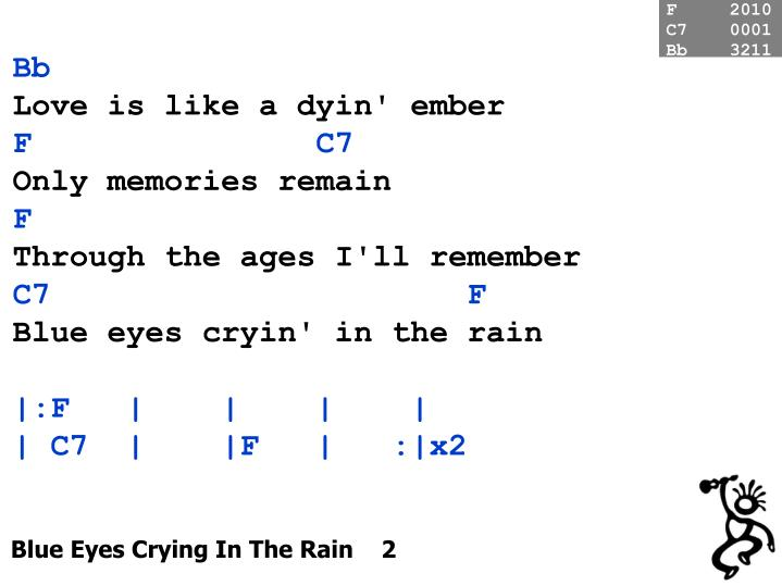 Blue eyes crying in the rain 2