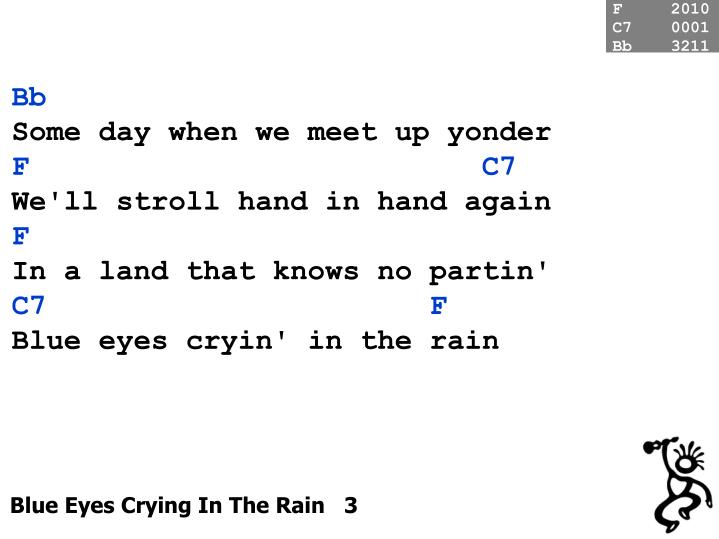 Blue eyes crying in the rain 3
