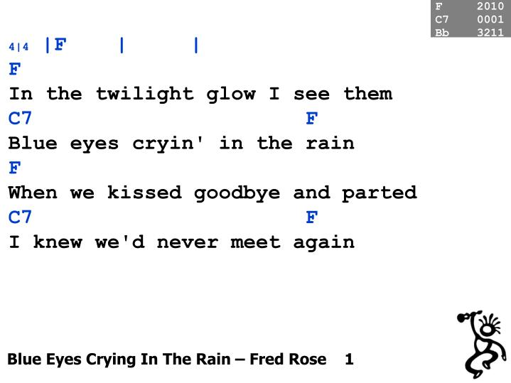 blue eyes crying in the rain fred rose 1 n.